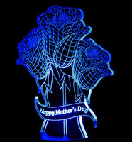 Mother's Day Flowers LED Desk, Table, Night Lamp
