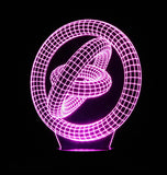 Gyroscope 3-D Optical Illusion Table or Night Lamp