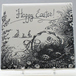 Happy Easter Engraving on Laser Ceramic Tile
