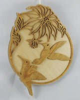 Hummingbird and Flowers Plaque