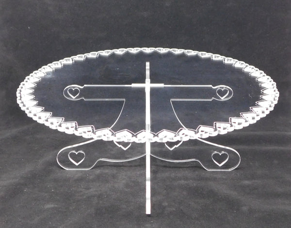 Cake Cupcake Stand Open Heart Design Clear Acrylic