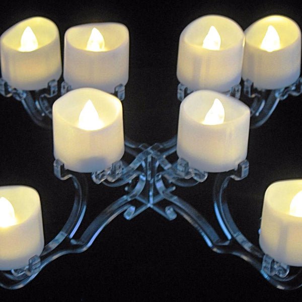 Candle Holder 8 LED Clear Acrylic