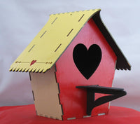 Heart Front Birdhouse Kit