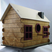 Adobe Log Cabin Birdhouse Kit