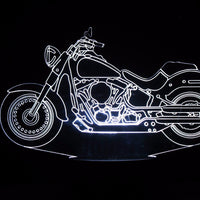 Harley-Davidson 3-D Optical Illusion LED Desk, Table, Night Lamp
