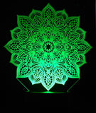 Mandala 3-D Optical Illusion Multicolored Light