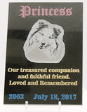 Personalized Laser Engraved Granite Pet Memorial