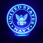 Navy Logo Multicolored LED Desk, Table, Night Lamp