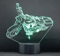 H-D Road King 3-D Optical Illusion LED Desk, Table, Night Lamp