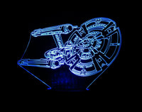 Starship Enterprise 3-D Optical Illusion LED Desk, Table, Night Lamp