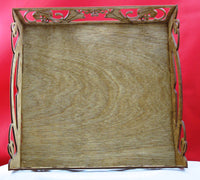 Square Decorative Wood Tray Kit