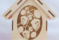 Tea House Kit Berries Engraved Front