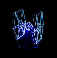 Tie Fighter 3-D Optical Illusion LED Desk, Table, Night Lamp