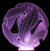 Twisted Ball 3-D Optical Illusion, Table or Night Lamp