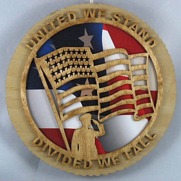 United We Stand with Flag Picture Background
