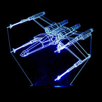 X-Wing Fighter 3-D Optical Illusion LED Desk, Table, Night Lamp