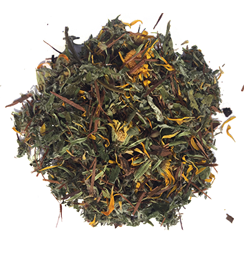 Maryland grown elderberries, calendula, holy basil and mugwort combined with Pau d'Arco Tea.