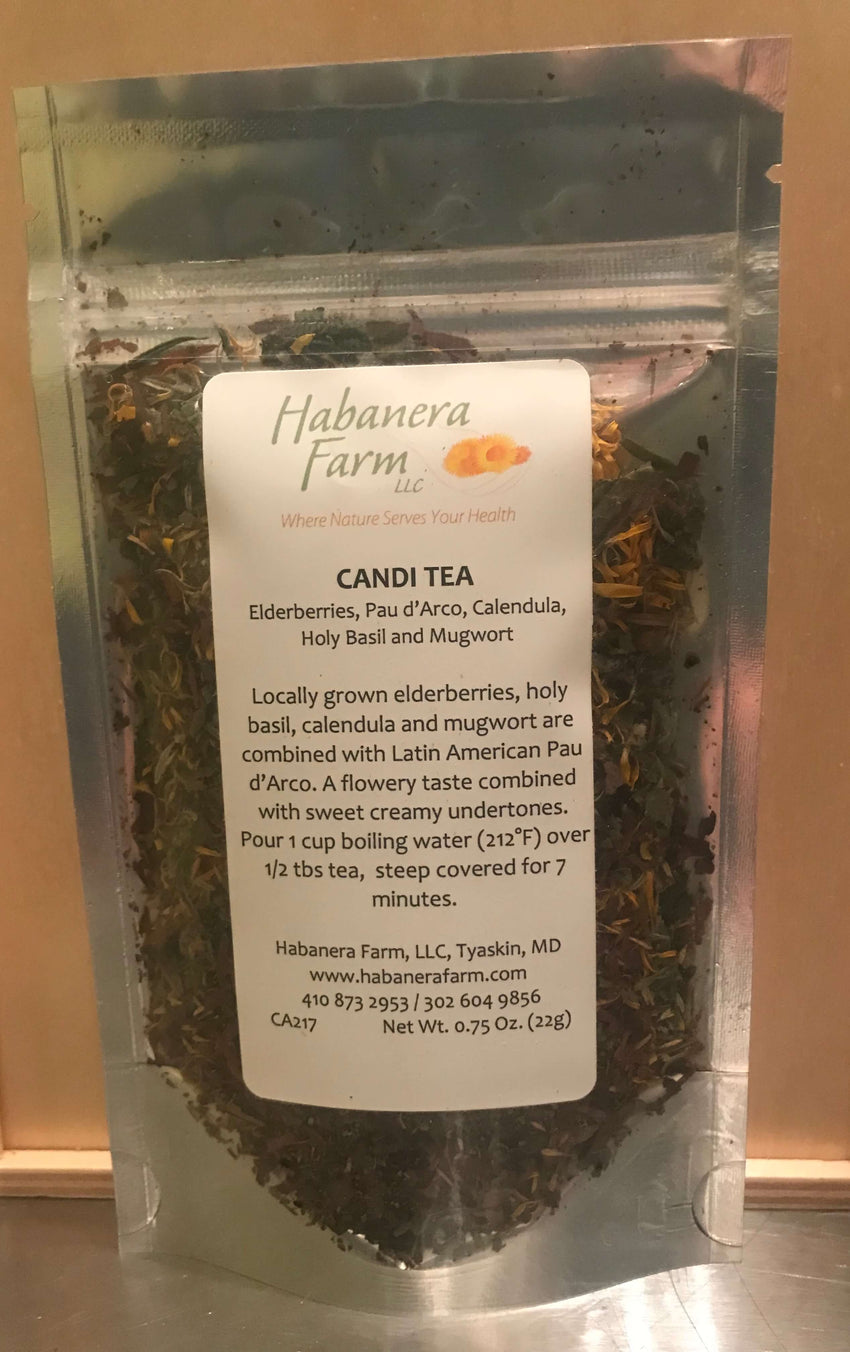 Candi Tea, herbal tea grown in Maryland