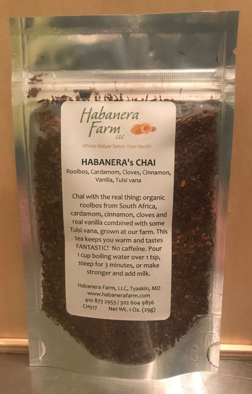 Habanera's New Chai Tea, with Maryland grown Holy Basil