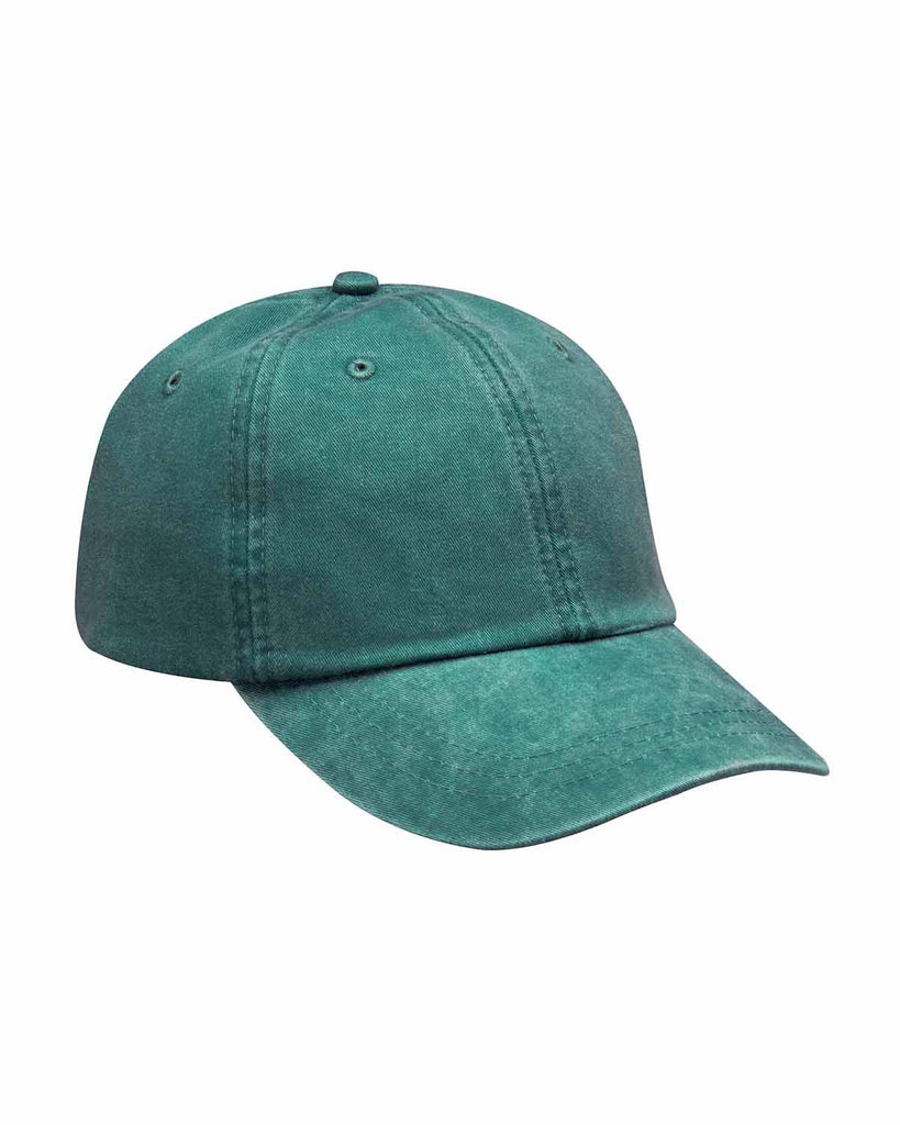 Washed Leather Strap Cap