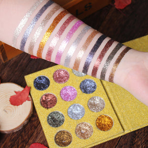 Luxury Collection Pressed Glitter Palette - 12 Colors