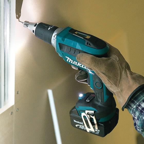 "Makita - 1/4"" Cordless Drywall Screwdriver with Brushless Motor"