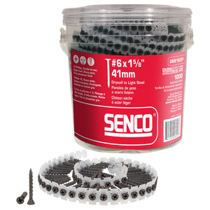 "Senco - #6 x 1 5/8"" Fine Thread Collated Drywall Screws (1000/Tub)"