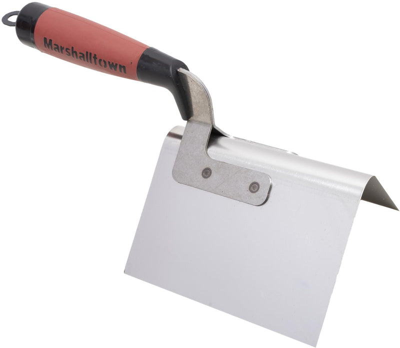 "5"" x 3 1/2"" Bullnose Outside Corner Trowel with Durasoft Handle"