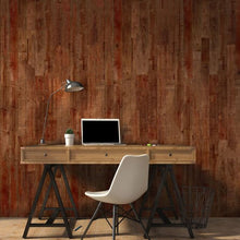 Red-Ish Wood Wall