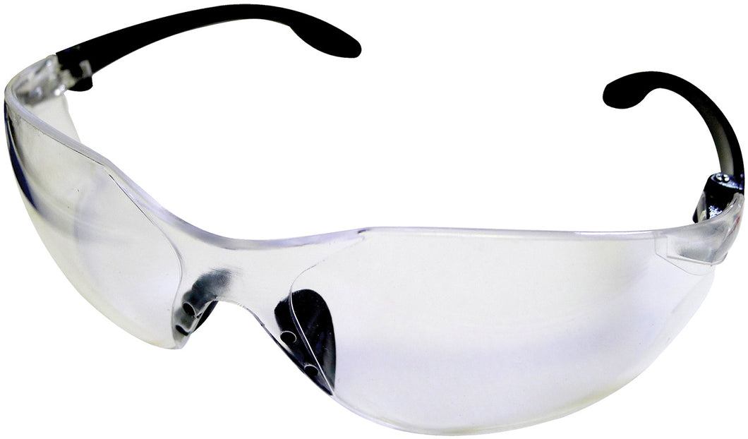 Clear Black Rim Safety Glasses