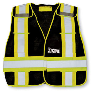Black High-Viz Safety Vest