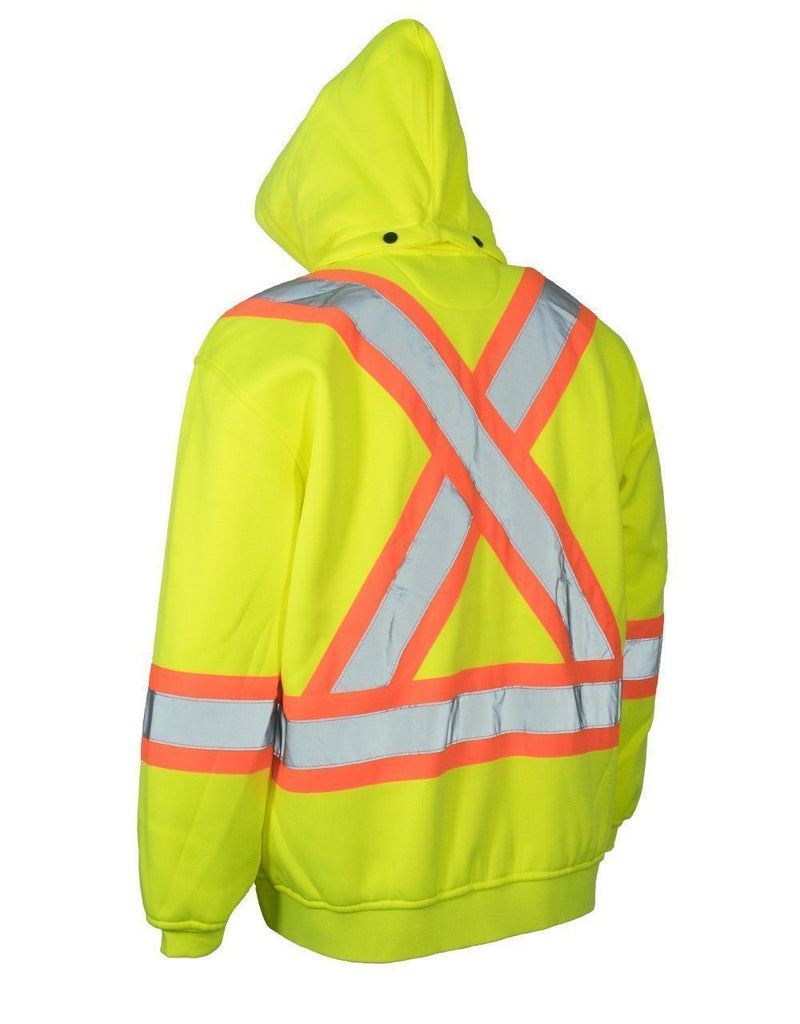 Lime High Visibility Hoodie - Medium