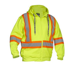Load image into Gallery viewer, Lime High Visibility Hoodie - Medium