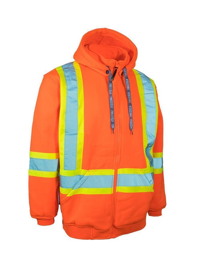 Orange High Visibility Hoodie - Medium