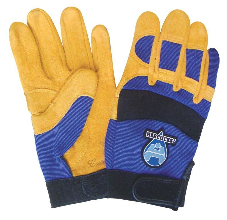 Hercules Cowhide Blue/Yellow Work Glove