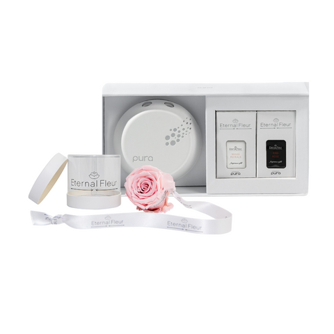 Pura Smart Home Diffuser - Pura x Fleur-N-Go Bundle Set - White/x 1/Pink Pastel