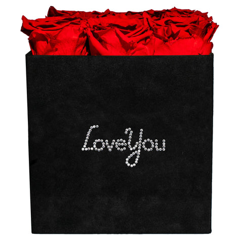 5-9 Flowers - Love You Black Velvet - 9 Roses - Black/x 9/Red