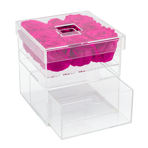 5-9 Flowers - Glam Box - Acrylic/x 8/Dark Pink