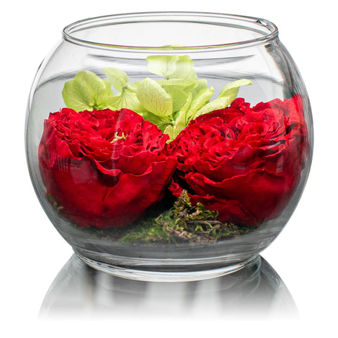Zen Collection - Forever Garden Bloom - Glass/x 1/Red