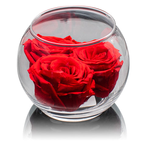 Le Jardin Collection - Forever Rose Bloom - Glass/x 1/Red