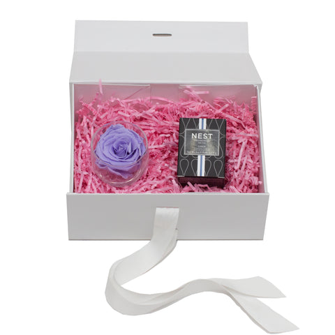 One Flower - Fleur Box - White/x 1/Lilac