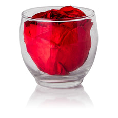 Back to School - Peony Votive Bloom - Glass/x 1/Red