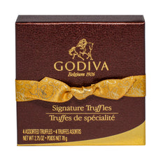 Extras - Godiva 4PC Signature Chocolate Truffles - Black/x 1/Gold