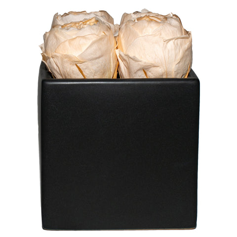 Peonies - Peach Peonies Black Grand Square - Black/x 1/Peach