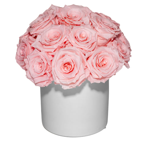 Bridal Collection - Ceramic Pave Bouquet - White/x 1/Pink Pastel