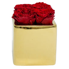 Le Jardin Collection - Red Carnations Gold Grand Square - Gold/x 1/Red