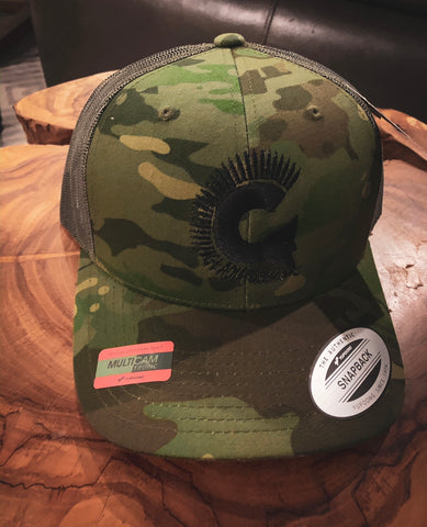 Green Multicam Tropic Trucker with Black Logo