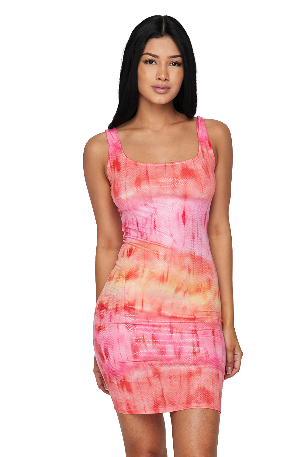 Tank Slvls Tie Die Mini Dress