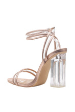 Load image into Gallery viewer, Pu Trim/clear Strap High Heels
