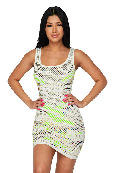 Slvls 2 Tone Sone Mini Dress
